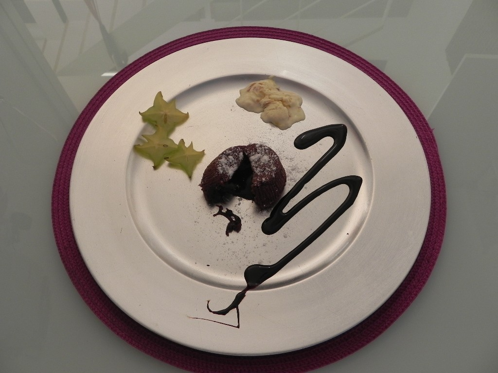 "fondant de chocolate ""Minute"""