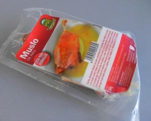 Muslo de pato en confir listo para hornear