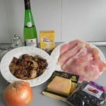 Ingredientes de pechuguitas rellenas de foie en salsa de setas