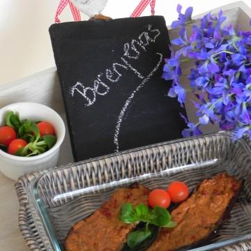 Berenjenas rellenas con mozzarella y tomates secos