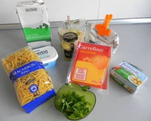 Ingredientes Maccheroni & Cheese