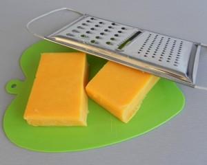 Rallamos el queso cheddar