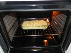 Lo metéis al horno a 200º durante 15 minutos