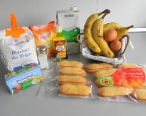 Ingredientes Puding de Plátano