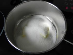 Añadimos los 50 grs. de azúcar