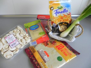 "Ingredientes Quesadilla ""glam"""