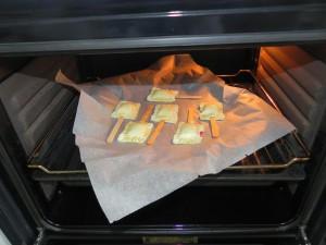 Las metemos al horno a 200º hasta que estén doradas