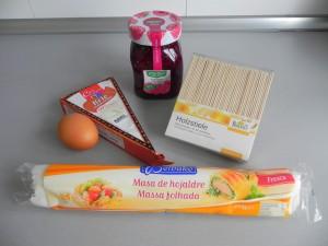 Ingredientes Piruletas de brie y mermelada de frambuesa