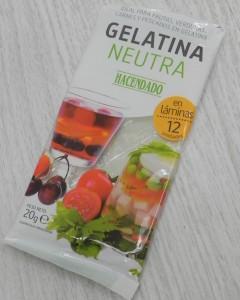 Hojas de gelatina neutra de Mercadona