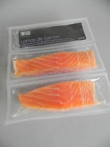 Lomos de salmón congelado