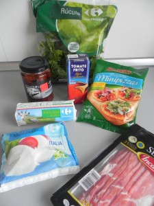 Ingredientes Pizzetas serranas