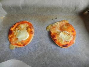 Pasado el tiempo, sacamos las pizzetas del horno