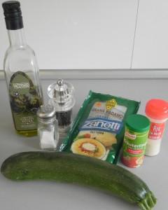 Ingredientes Spaghetti de calabacín