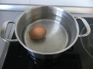 Ponemos el huevo a cocer