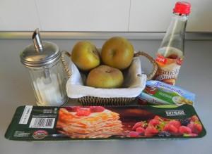 Ingredientes tartavtatin de manzana