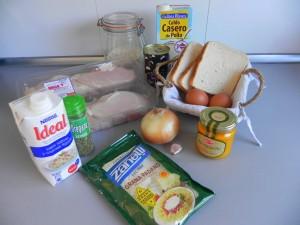 Ingredientes Ají de gallina