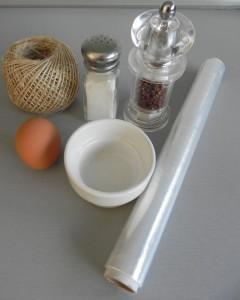 Elementos para escalfar el huevo