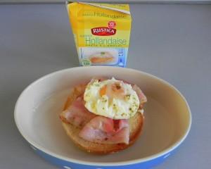 Sobre el huevo, la crema holandesa