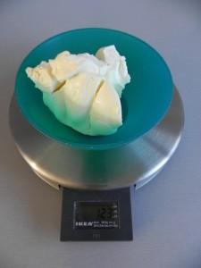Pesamos el queso crema