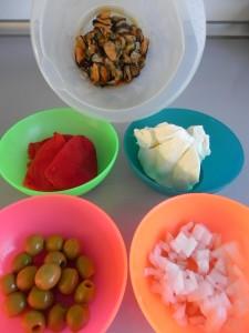 Ingredientes preparados paté de mejillones