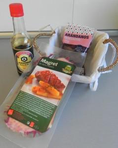 Ingredientes Magret de pato con coulis de arándanos y soja