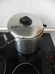 Lo cocemos medio tapado durante 15 minutos aprox