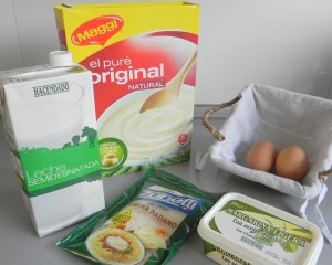 Ingredientes Soufflé de patata con parmesano