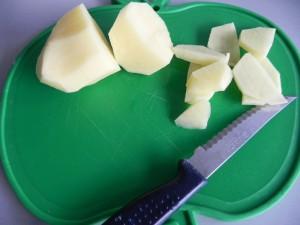 Las cortamos como para tortilla