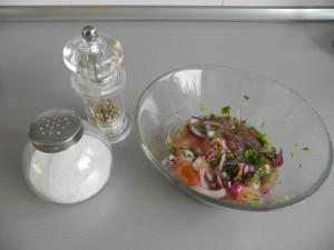Salpimentamos con sal y pimienta blanca