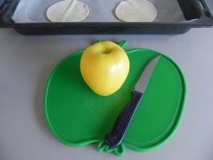 Pelamos loas manzanas