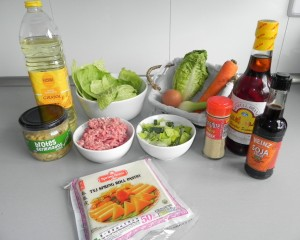Ingredientes rollitos de primavera