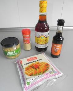 Ingredientes especfiales rollitos de primavera