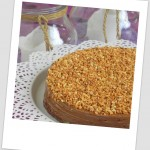 Tarta de obleas con crema de chocolate