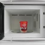 Calentamos un poco la cremad e chocolate en el microondas