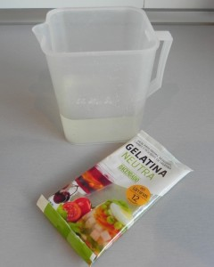 Hidratamos la gelatina