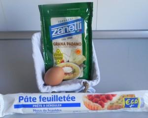 Ingredientes palisots de parmesano y orégano