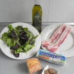 Ingredientes ensalada francesa con queso d cabra y panceta