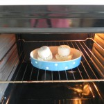 metemos el queso con el pan al horno