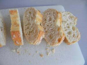 Cortamos el pan en rebanaditas