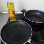 calentamos aceite en una sartén