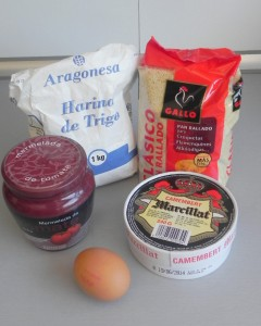 Ingredientes Camembert frito con mermelada de tomate