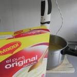 Si se os queda un poco líquida, podéis echar unas cucharadas de copos de puré de patata
