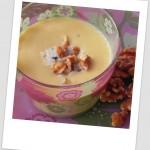 Crema de calabaza con roquefort y nueces
