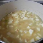 Hasta cubrir las patatas