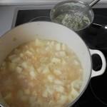 Añadimos la pasta a la sopa