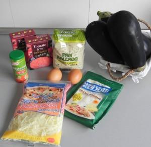 Ingredientes berenjenas a la parmensana