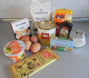 Ingredientes bizcocho mármol