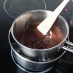 Removed el chocolate, retiradlo del fuego y dejadlo enfriar