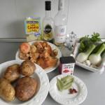 Ingredientes de patatas picantes con níscalos
