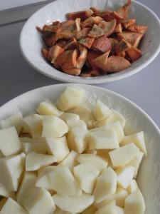 Patatas y nísclaos preparados